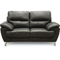 Contemporary Dark Gray Loveseat - Galactica