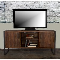 60 Inch Modern Industrial Wood TV Stand - Brixton