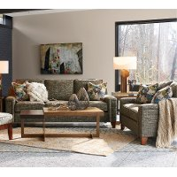 2PC/630/D144828/S/L Contemporary Forest Green 2 Piece Living Room Set - Hazel