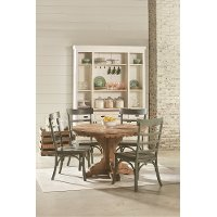 Magnolia Home Furniture Salvage and Green 5 Piece Dining Set