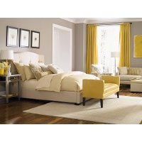 Traditional Putty Beige Queen Upholstered Bed - Bergman