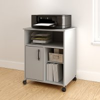 10766 Soft Gray Printer Stand on Wheels - Axess