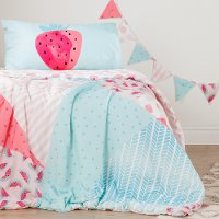 100092 Watermelons and Dots Reversible Twin Comforter and Pillowcase - Dreamit