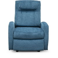 Blue Wideseat Manual Rocker Recliner - Skyler