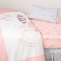 100100 Doudou the Rabbit 3 Piece Baby Crib Bed Set and Pillow - Dreamit