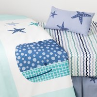 100104 Little Whale 3-Piece Baby Crib Bed Set and Pillow - Dreamit