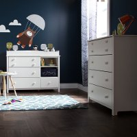 11201 Pure White Changing Table and Chest - Little Smileys