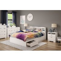 11251 Full Mates Bed With Bookcase Headboard (54 Inch) - Reevo