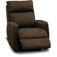 Chocolate Brown Swivel Rocker Recliner - Primo