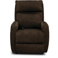 Contemporary Chocolate Brown Power Rocker Recliner - Primo