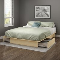10221 Natural Maple Full/Queen Platform Bed with Drawers - Gramercy