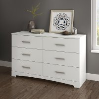 10450 Pure White 6-Drawer Double Dresser - Gramercy