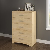 10454 Natural Maple 5-Drawer Chest of Drawers - Gramercy