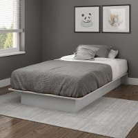 10432 Soft Gray Twin Platform Bed - Libra