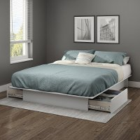 10445 Soft Gray Full/Queen Platform Bed - Step One