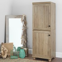 10317 Two-Door Rustic Oak Storage Cabinet - Hopedale