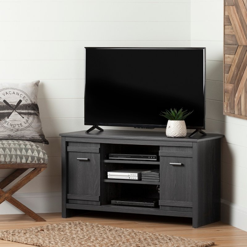 40 inch tv stand Gray Corner TV Stand (40 Inch)   Exhibit | RC Willey Furniture Store 40 inch tv stand