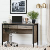 10550 Weathered Oak Desk with Drawers - Munich