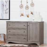 10592 Sand Oak Dresser with Door - Savannah