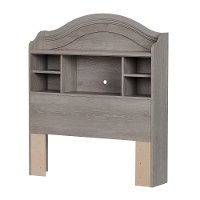 10596 Sand Oak Twin Bookcase Headboard - Savannah