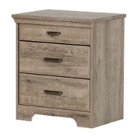 10555 Weathered Oak Nightstand with Charging Station - Versa