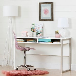 ... 100238 Pure White Desk With Clear Pink Office Chair   Interface ...