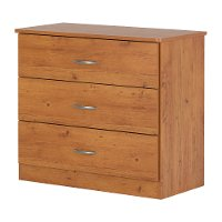 10680 Country Pine 3-Drawer Chest - Libra