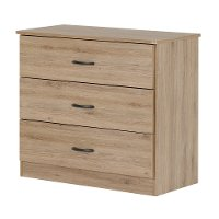 10682 Rustic Oak 3-Drawer Chest - Libra
