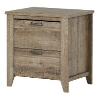 10253 Weathered Oak 2-Drawer Nightstand - Lionel