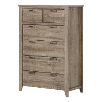 10254 Weathered Oak 6-Drawer Chest of Drawers - Lionel