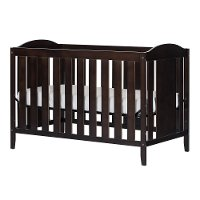3559350 Espresso 2-in-1 Crib with Toddler Rail - Angel