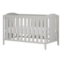 10590 Soft Gray 2-in-1 Crib with Toddler Rail - Angel