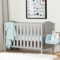 10719 Soft Gray Crib with Toddler Rail - Cookie