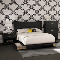 3107A4 Black 4 Piece Full Size Bedroom Set - Step One