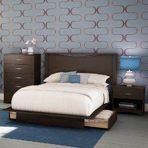 bedroom sets full.  3159C4 Chocolate Full 4 Piece Bedroom Set Step One RC Willey sells full bedroom sets and size mattresses