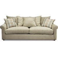 Casual Traditional Oyster Cream Sofa - Gavin