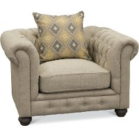 Traditional Otter Gray Chair - Alston