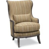 Traditional Pottery Tan Accent Chair - Alston