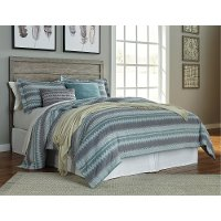 Warm Gray Rustic Casual Queen Headboard - Culverbatch