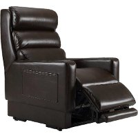 N/A Saddle Brown Mobility Reclining Lift Chair - Retract-Arm