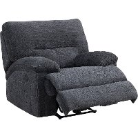 Charcoal Gray Power Recliner - Parker Valley
