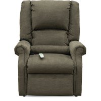 Graceland Java Brown Lift Chair - Layflat