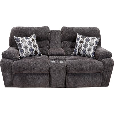 Chocolate Brown Power Reclining Loveseat - Tribute