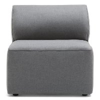 1500962 Dark Gray Armless Modular Patio Chair - Big Joe Lux