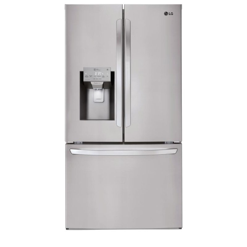 Lg French Door Refrigerator With Smudge Resistant Finish 36 Inch Stainless Steel Rc Willey Furniture