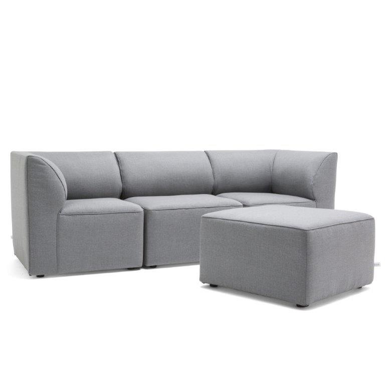 4 piece dark gray patio sectional and ottoman   big joe lux rcwilley image1~800