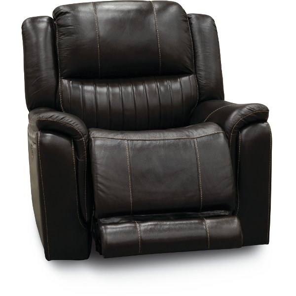 Chocolate Brown Leather Match Recliner Hearst