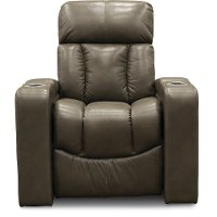 Alfresco Shadow Gray Home Theater Power Recliner - Paragon