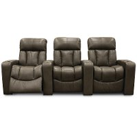 Alfresco Shadow Gray 3 Piece Power Home Theater Seating - Paragon