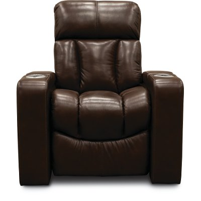 Alfresco Fudge Brown Home Theater Power Recliner - Paragon